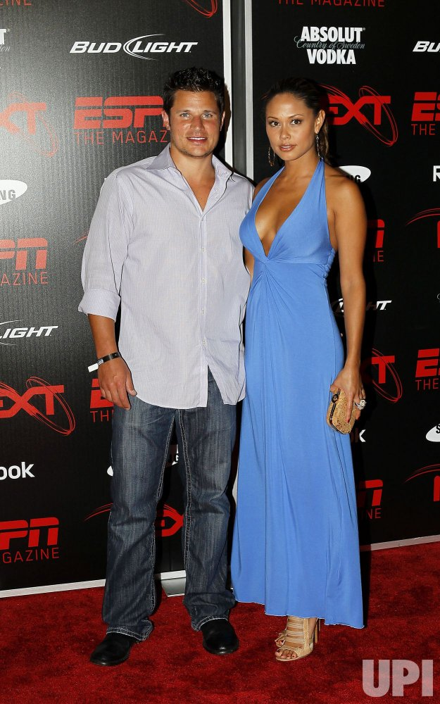 Singer Nick Lachey (L) and Vanessa Minnillo at the ESPN the Magazine's NEXT Event in Miami Beach