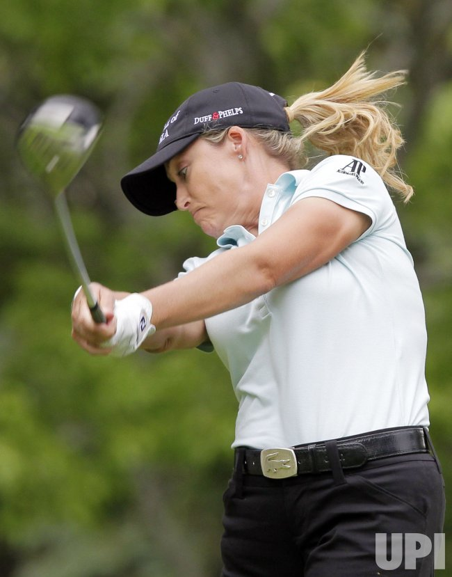 Cristie Kerr in the third round of the Wegmans LPGA Championship at Locust Hill Country Club in New York