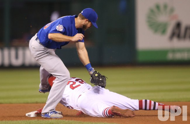 St. Louis Cardinals Tommy Pham steals second base