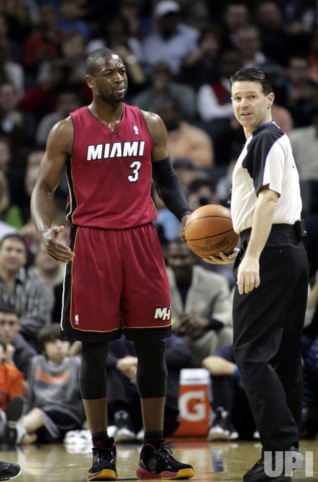 Miami Heat star Dwyane Wade against the Charlotte Bobcats