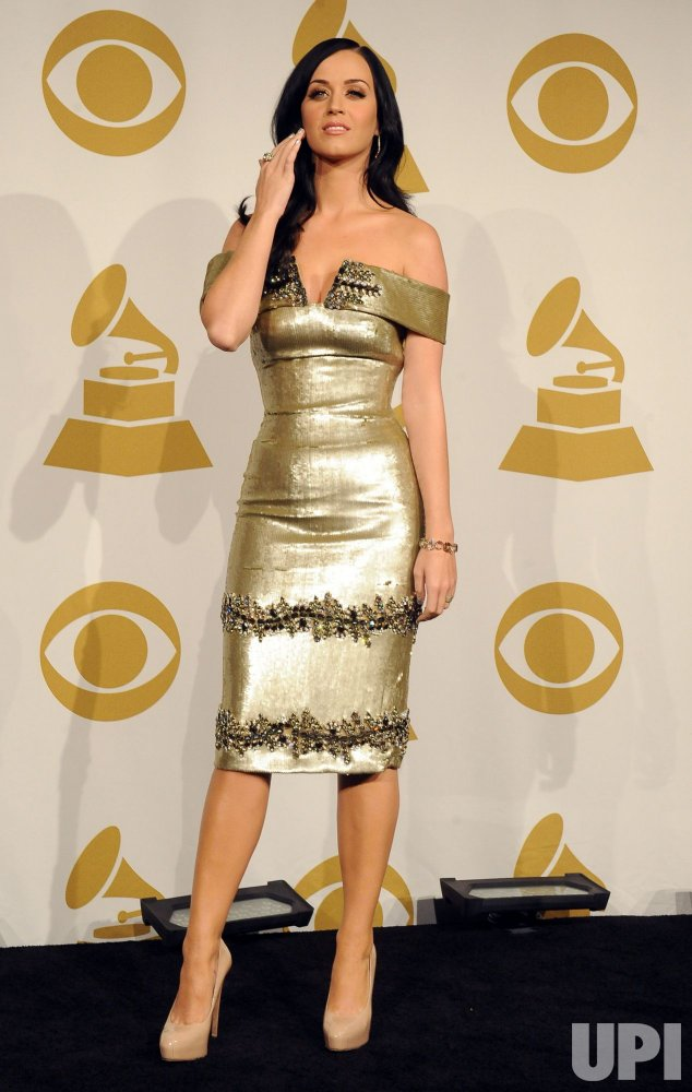Katy Perry appears backstage at the Grammy Nominations Concert in Los Angeles