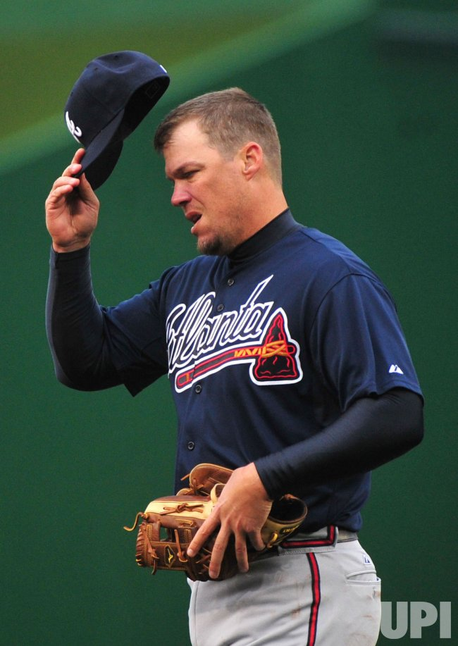 Braves' third baseman Chipper Jones in Washington