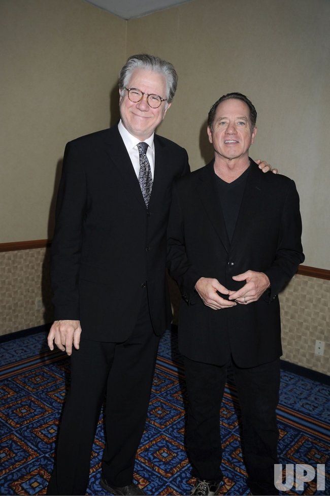 John Larroquette and Tom Wopat arrives for the Drama League Awards Ceremony and Luncheon