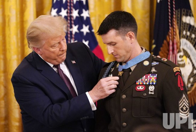 Trump presents Medal of Honor to Sergeant Major Thomas Payne
