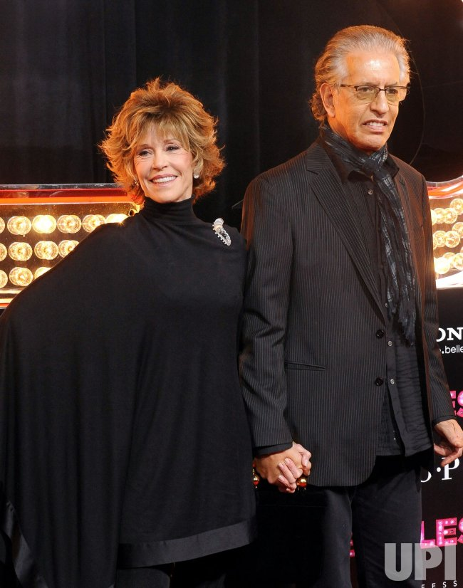 "Jane Fonda and Richard Perry arrive at the ""Burlesque"" premiere in Los Angeles"