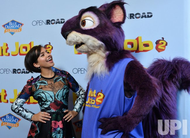 """Isabela Moner attends """"The Nut Job 2: Nutty by Nature"""" premiere in Los Angeles"""