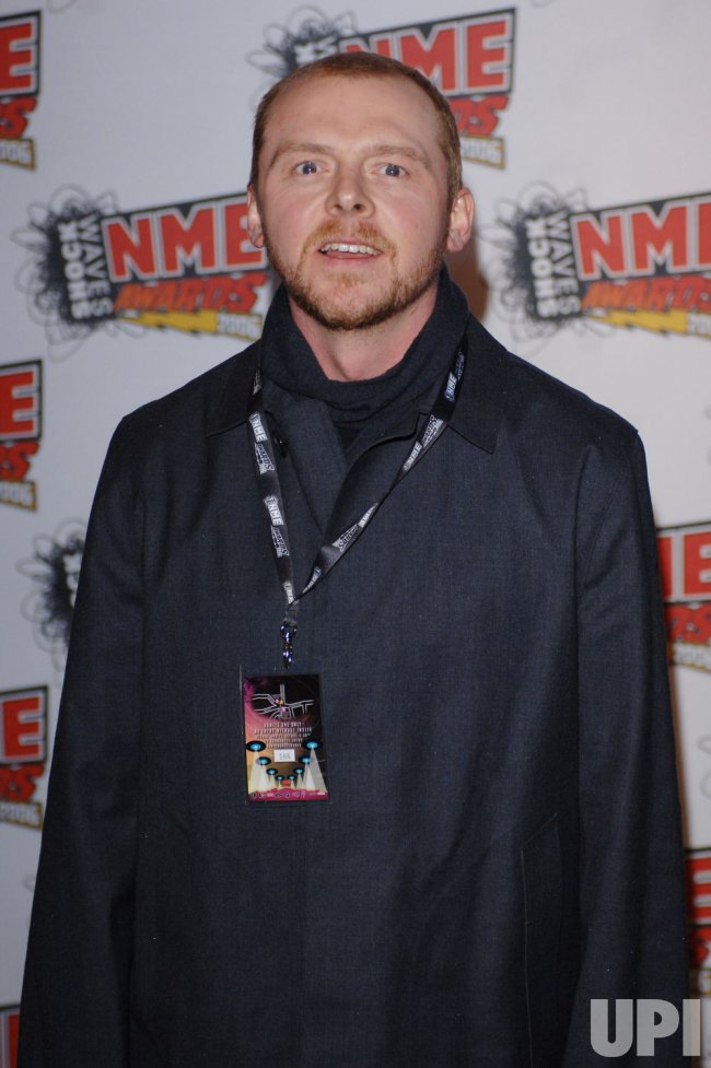 "ACTOR SIMON PEGG AT ""NME AWARDS"""