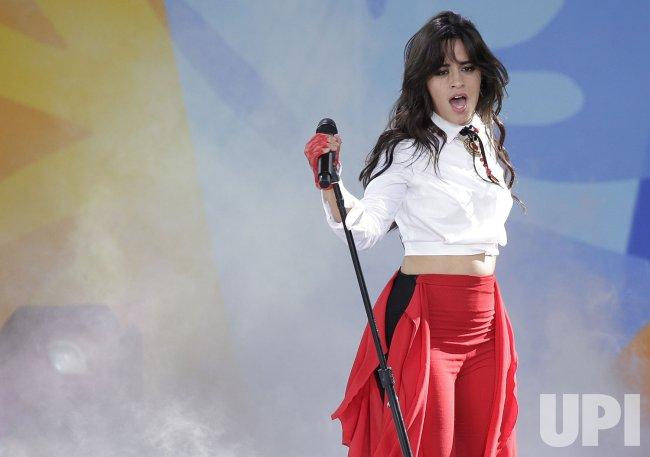 Camila Cabello perform on GMA in New York