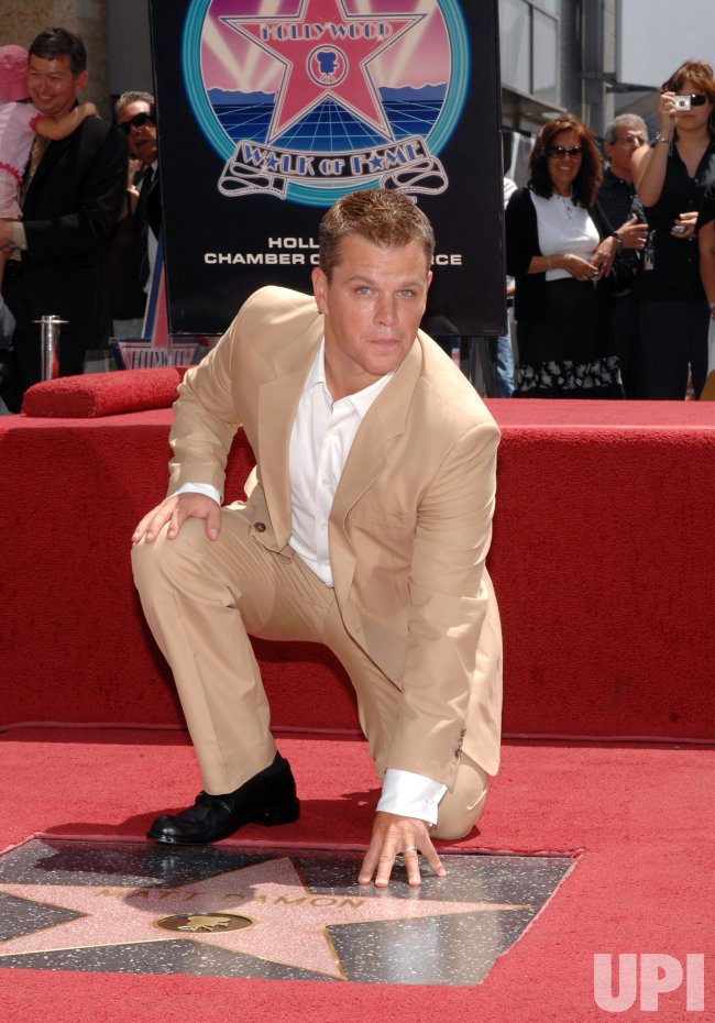 ACTOR MATT DAMON RECEIVES STAR ON HOLLYWOOD WALK OF FAME INLOS ANGELES