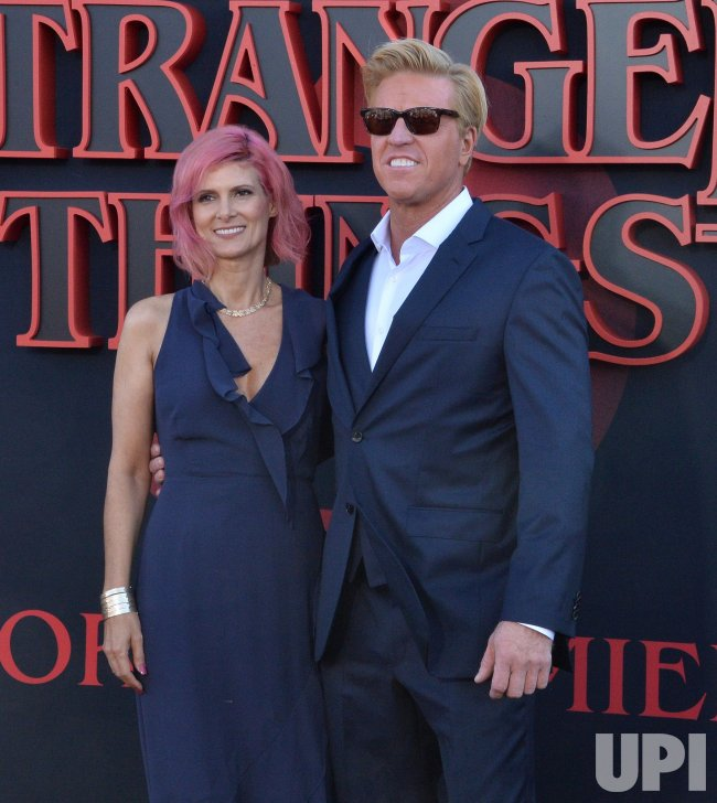 Jake Busey and April Hutchonson attend the