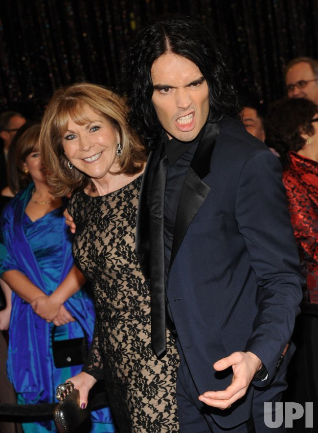 Russell Brand and his mother Barbara arrive at the 83rd annual Academy Awards in Hollywood