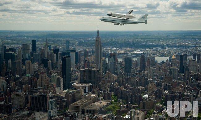 Shuttle Enterprise Flight over New York