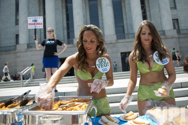 PETA Holds Veggie Dog Day on Capitol Hill in Washington