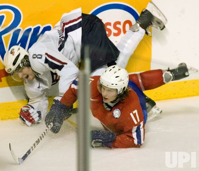 WORLD JUNIOR HOCKEY CHAMPIONSHIPS, U.S.A. VS. NORWAY