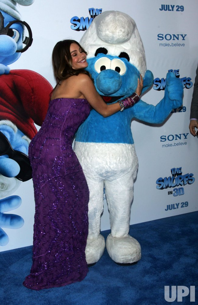 """Sofia Vergara arrives for the """"The Smurfs"""" in 3D Premiere in New York"""