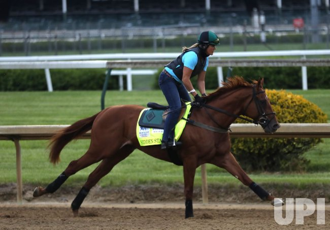 Kentucky Derby Hopeful Hidden Stash Gallops on the Track - UPI.com