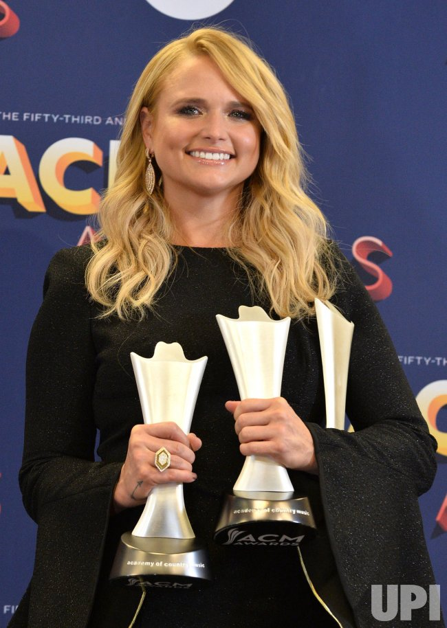 Miranda Labmbert wins awards at the 53rd annual Academy of Country Music Awards in Las Vegas