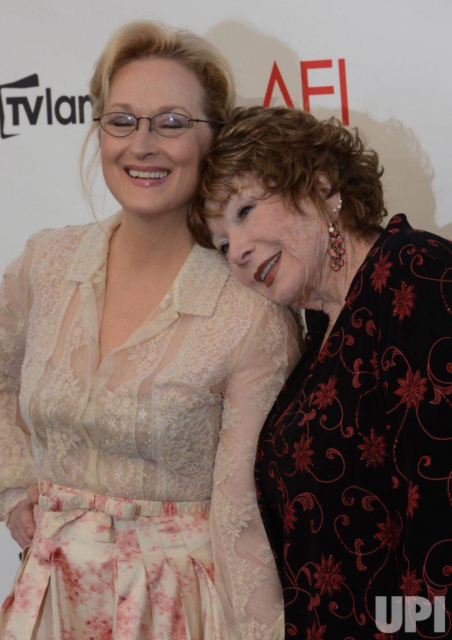 Meryl Streep and Shirley MacLaine arrive for AFI tribute to MacLaine in Culver City, California