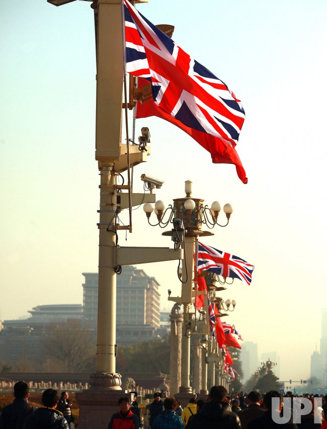 British flags fly over Beijing