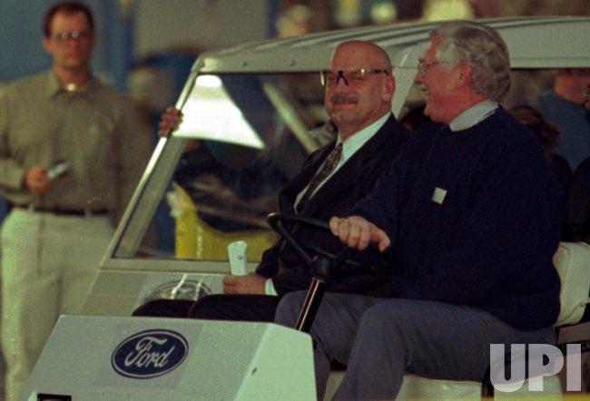 Minnesota Governor Jesse Ventura tours the Ford Motor Company Assembly Plant