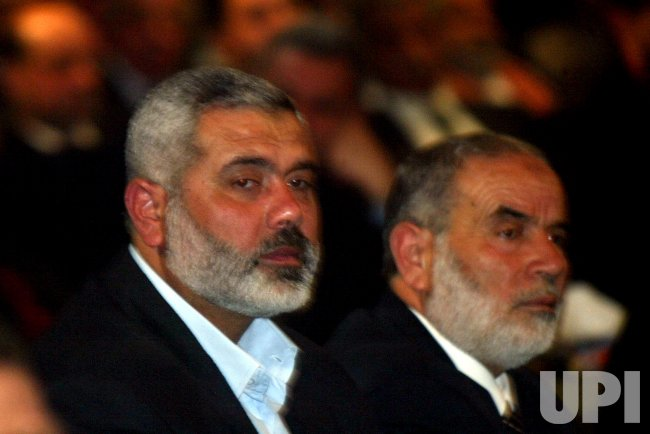ISMAIL HANIYEH AS PALESTINIAN PRIME MINISTER.