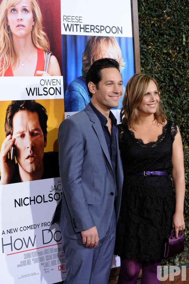 "Paul Rudd and wife Julie Yaeger attend the ""How Do You Know"" premiere in Los Angeles"