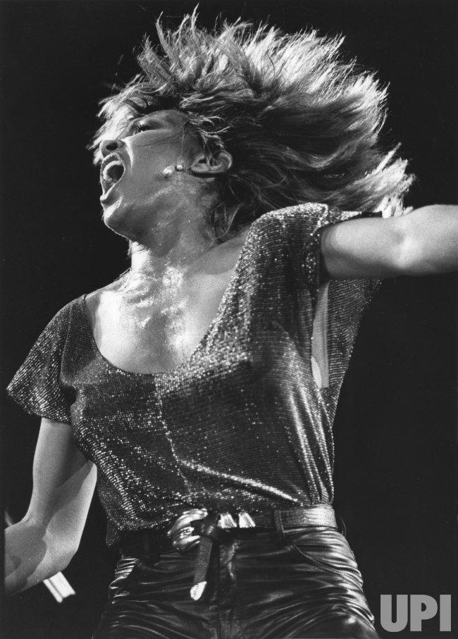 Tina Turner performs at a concert