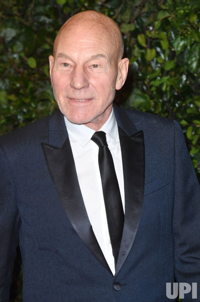 Patrick Stewart attends the Evening Standard Theatre Awards at Theatre Royal, London.
