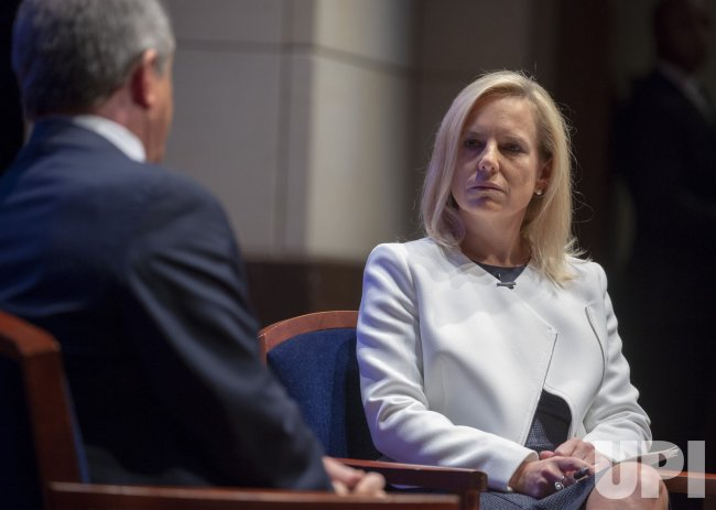 DHS Secretary Kirstjen Nielsen speaks at a Capital Hill National Security Forum