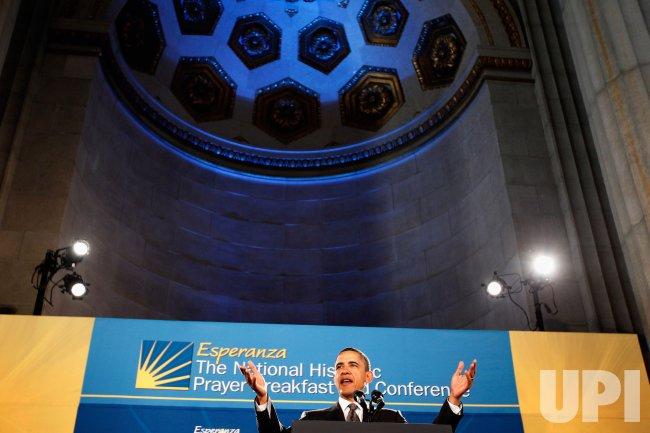 President Obama Speaks To The National Hispanic Prayer Breakfast