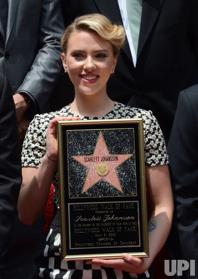 Scarlett Johansson receives a star on the Hollywood Walk of Fame in Los Angeles