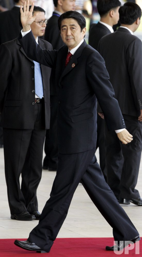 JAPANESE PRIME MINISTER SHINZO ABE ARRIVES AT THE APEC SUMMIT IN HANOI