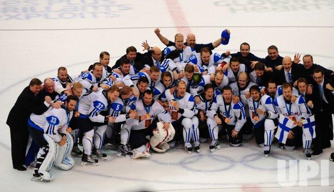 Finland vs. Slovakia in bronze medal men's ice hockey at 2010 Winter Olympics in Vancouver