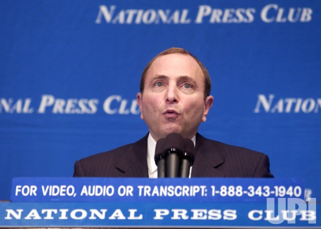 NATIONAL HOCKEY LEAGUE COMMISSIONER GARY BETTMAN