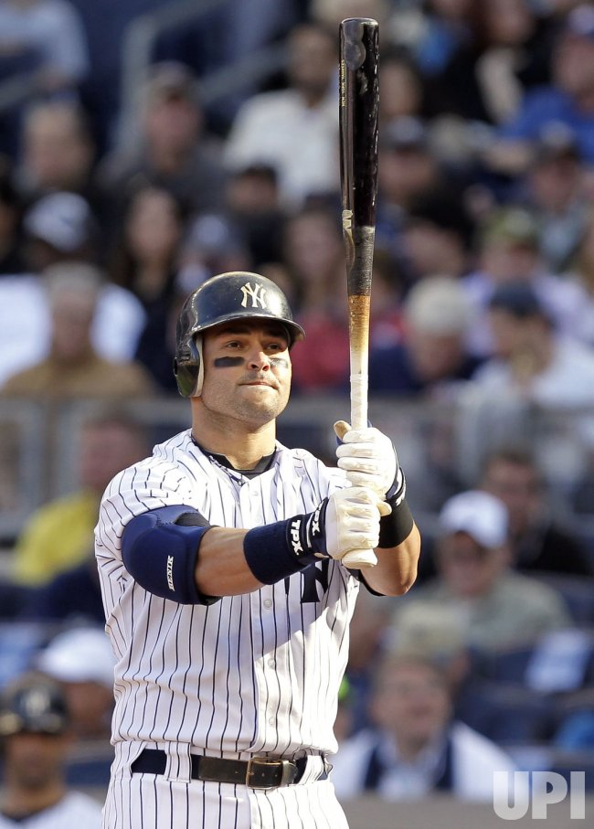New York Yankees Nick Swisher at Yankee Stadium in New York