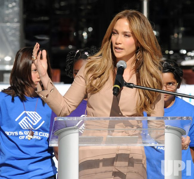 Denzel Washington announces Jennifer Lopez will join him as national spokesperson for Boys & Girls Clubs of America in Los Angeles