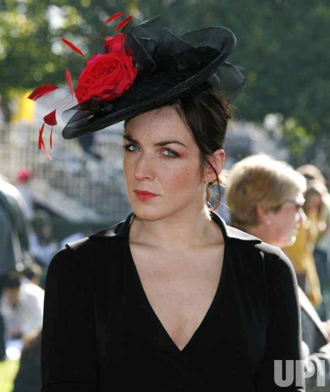 Hat contest at the Prix de l'Arc de Triomphe in Paris
