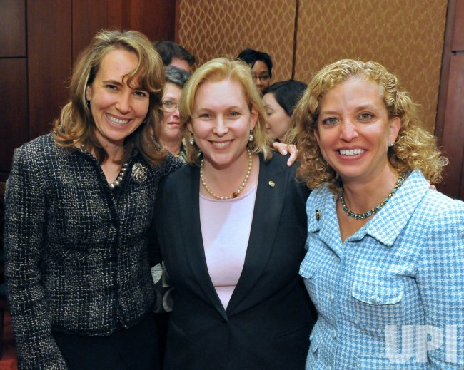 Giffords, Gillibrand, and Wasserman-Schultz at a Jewish Heritage Month Reception