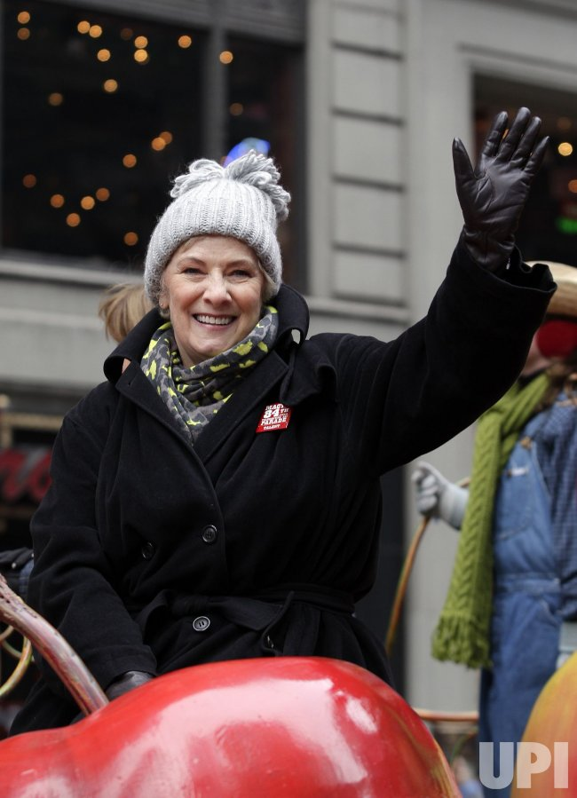 Betty Buckley rides down the parade route on a float at the Macy's 84th Annual Thanksgiving Day Parade in New York
