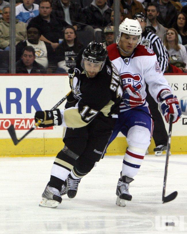 Pittsburgh Penguins vs Montreal Canadiens