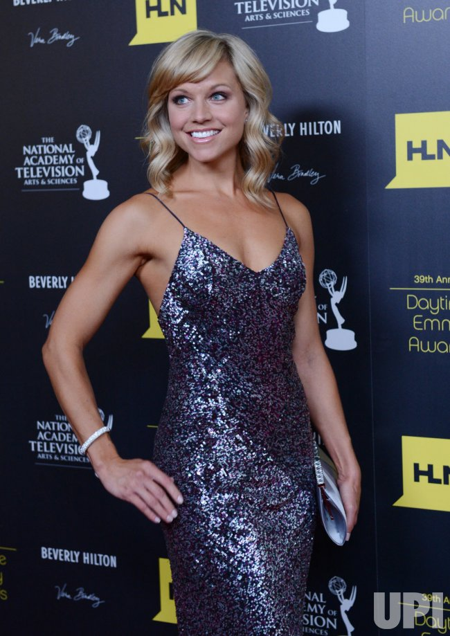 Tiffany Coyne attends the 39th annual Daytime Emmy Awards in Beverly Hills, California..