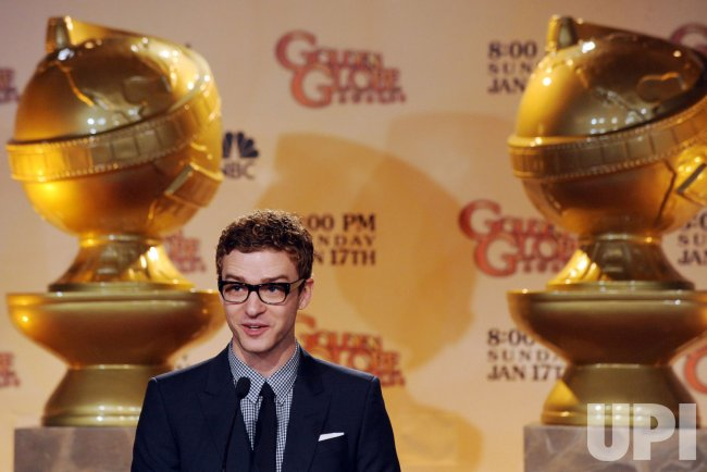 Justin Timberlake announces nominations for the 67th Golden Globe Awards in Beverly Hills