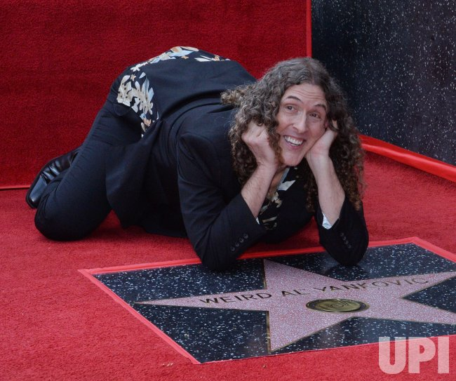 'Weird Al' Yankovic is honored with a star on the Hollywood Walk of Fame in Los Angeles