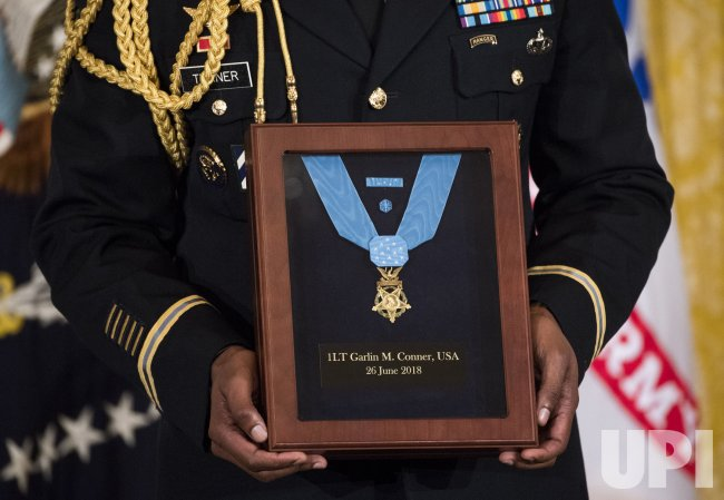 President Trump posthumously awards Army First Lt. Garlin Conner the Medal of Honor at the White House
