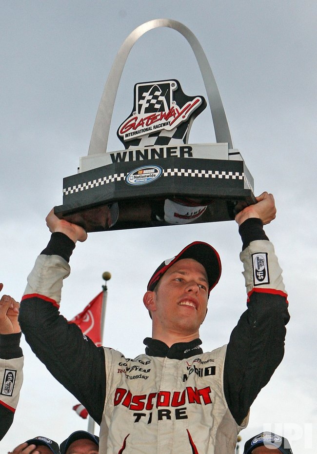 Brad Keselowski wins the 5-hour Energy 250 NASCAR Race in Illinois