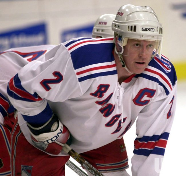 New York Rangers Brian Leetch plays in his 1,000 professional game