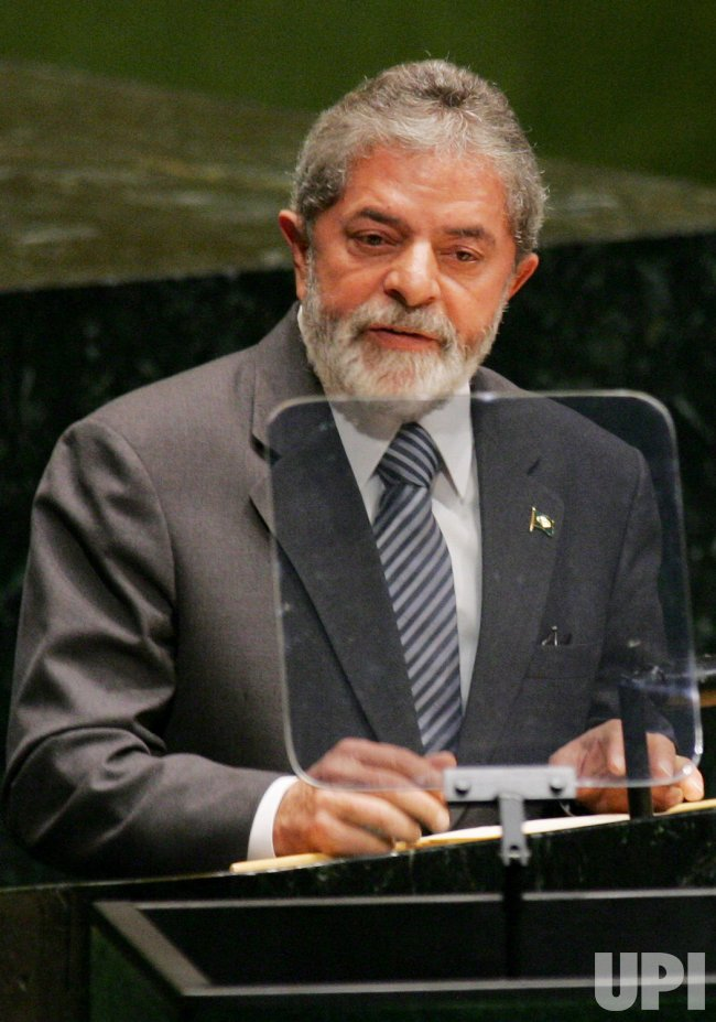 BRAZIL'S PRESIDENT DA SILVA ADDRESSES THE GENERAL ASSEMBLY AT THE UNITED NATIONS