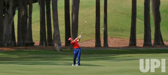 Sergio Garcia hits during the TPC Players in Florida