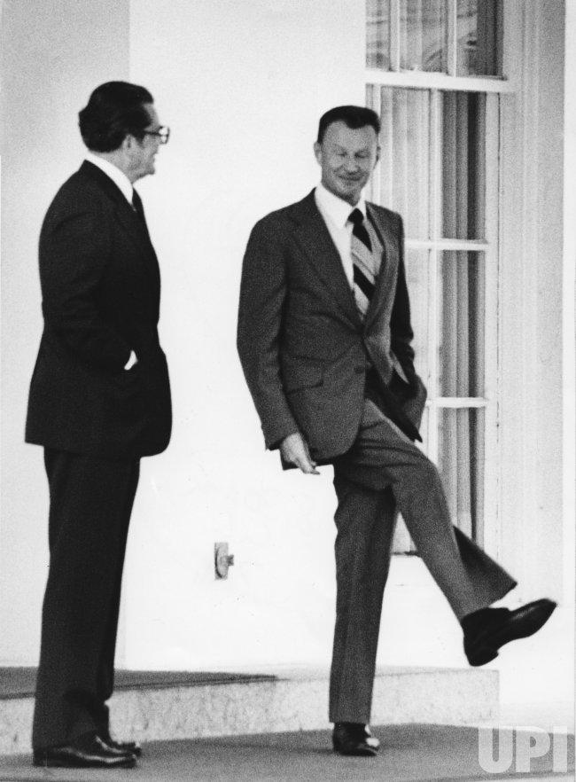 National Security Adviser Zbigniew Brzezinski meets with German Ambassador Berndt Von Staden