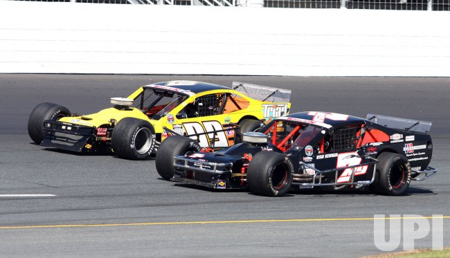 Ryan Newman runs in the Whelen Modified NASCAR series in Loudon, New Hampshire